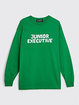 Junior Executive Smoke Logo LS T-shirt Green