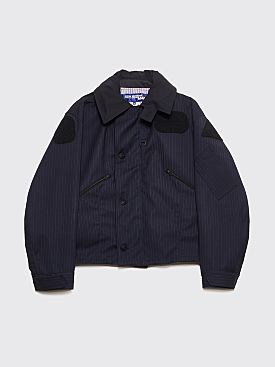 Junya Watanabe MAN Hooded Jacket Stripe Navy