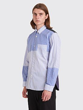 Junya Watanabe MAN Patchwork Shirt Stripe White / Blue