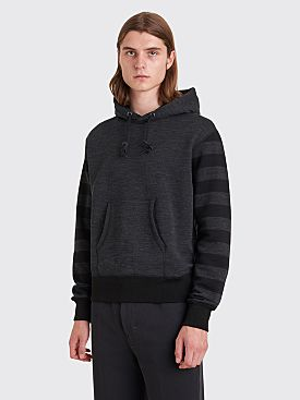 Junya Watanabe MAN Hooded Wool Sweater Grey / Black
