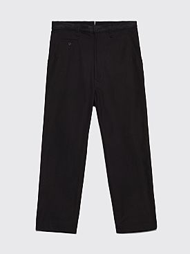 Junya Watanabe MAN Cotton Canvas Work Pants Black