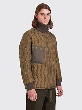 Junya Watanabe MAN Quilted Ripstop Jacket Khaki