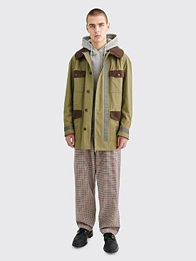 Junya Watanabe MAN Panel Canvas Jacket Green