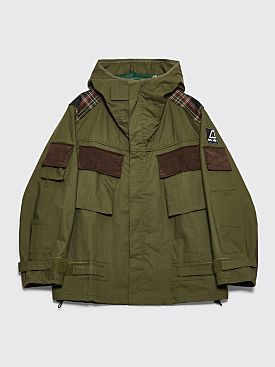 Junya Watanabe MAN x Ark Air Hooded Parka Jacket Khaki