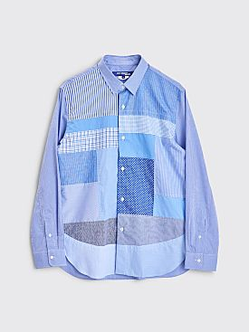 Junya Watanabe MAN Patchwork Shirt Checkered Blue / White