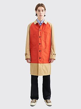 Junya Watanabe MAN Panel Coat Beige / Orange