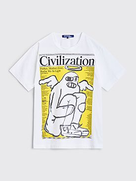 Junya Watanabe MAN Civilization T-shirt White / Yellow