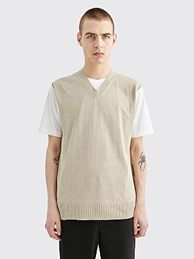 Junya Watanabe MAN V-Neck Sweater T-shirt White