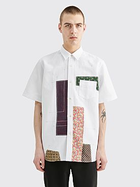 Junya Watanabe MAN Multi Fabric Patchwork Shirt White