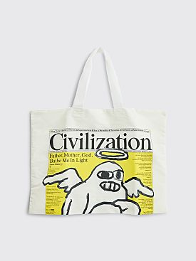 Junya Watanabe MAN Civilization Nylon Bag White