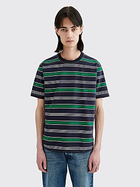 Junya Watanabe MAN Multi Stripe T-shirt Navy / Green