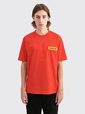 Junya Watanabe MAN x Pirelli GD Filled Cotton Jersey T-shirt Red