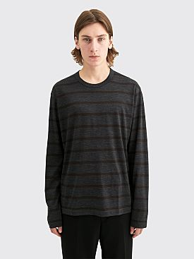 Junya Watanabe MAN Stripe Wool Jersey T-shirt Grey / Brown