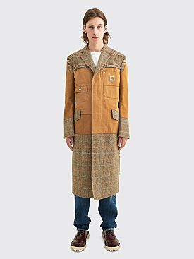 Junya Watanabe MAN x Carhartt Cotton Duck Wool Tweed Coat Brown / Beige