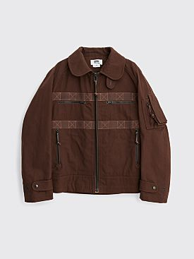 Junya Watanabe MAN Cotton Oxford Jacket Brown