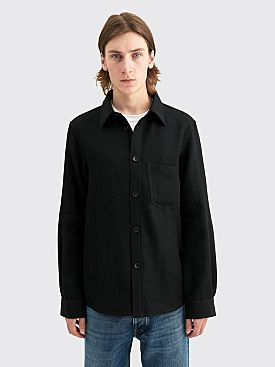 Junya Watanabe MAN Milled Wool Linen Twill Shirt Black