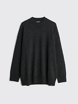 Junya Watanabe MAN Wool Jacquard Jersey Sweater Grey