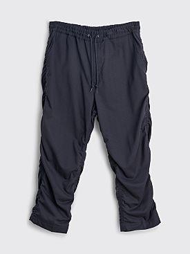 Junya Watanabe MAN Ruched Wool Pants Navy