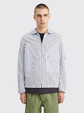 Junya Watanabe MAN Poplin Jacket Stripe White / Blue