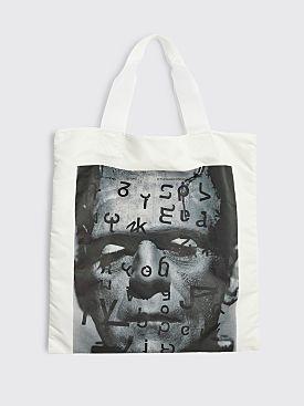 Junya Watanabe MAN Typography Tote Bag White