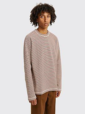 Junya Watanabe MAN Stripe Sweatshirt Beige / Brown