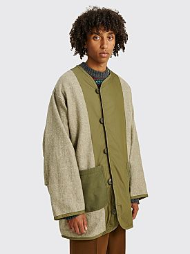 Junya Watanabe MAN Wool Liner Jacket Olive Green