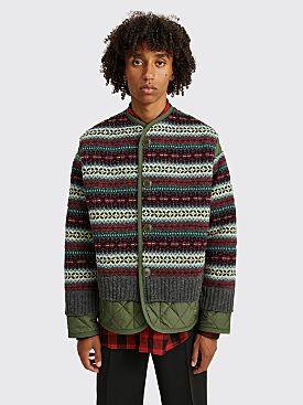 Junya Watanabe MAN Knitted Liner Jacket Green