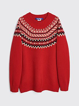 Junya Watanabe MAN Knitted Sweater Red