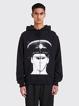 JW Anderson Gilbert + George Policeman Heavy Print Hooded Sweatshirt Black