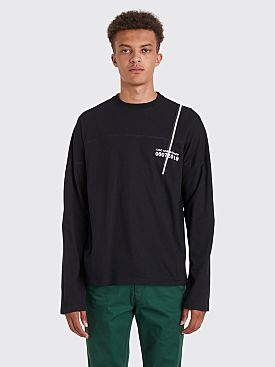 Kiko Kostadinov 0007 Graphic Embroidery Long Sleeve T-shirt Black