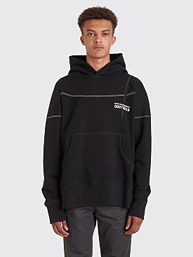 Kiko Kostadinov 0007 Midnight Stripes Hooded Sweatshirt Black