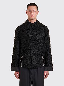 Kiko Kostadinov Goff Zip Darted Jacket Furry Black