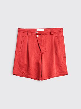 Kiko Kostadinov Ansel Racing Shorts Scarlet Red