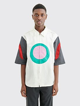 Kiko Kostadinov Derby Oval Zip Shirt Porcelain White / Tri Color