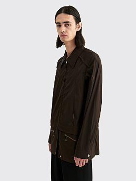 Kiko Kostadinov Marcel Shirt Jacket Mink Brown