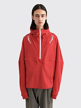 Kiko Kostadinov Brinda Hooded Sweatshirt Target Red