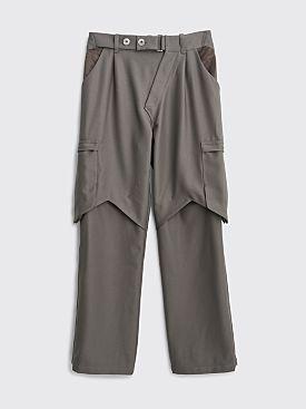 Kiko Kostadinov Bindra Cargo Trousers Steel Grey