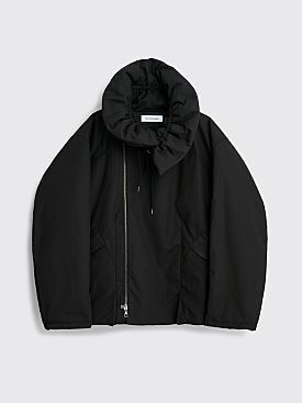 Kiko Kostadinov Tranter Padded Nylon Jacket Oil Black