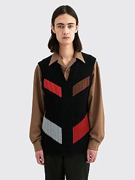 Kiko Kostadinov Nash Intarsia Wool Vest Black