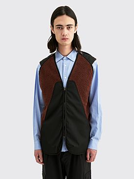Kiko Kostadinov Nash Liner Vest Brown / Oil Black