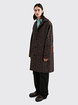 Kiko Kostadinov Lathi Zip Coat Auburn Snake Brown