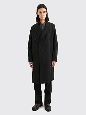 Kiko Kostadinov Maik Tailored Long Tech Twill Blazer Crow Black