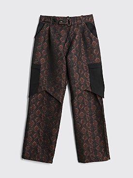 Kiko Kostadinov Bindra Cargo Trousers Auburn Snake Brown