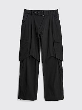 Kiko Kostadinov Bindra Cargo Trousers Crow Black