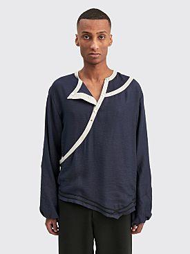 Kiko Kostadinov Isaac Double Layer Shirt Dress Blue
