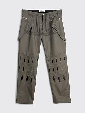 Kiko Kostadinov Arcadia Embroidered Trousers Tarmac Grey