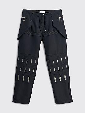 Kiko Kostadinov Arcadia Embroidered Trousers Crow Black