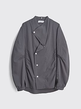 Kiko Kostadinov Anthonis Pleated Shirt Phantom Grey / Moonlight Stripe