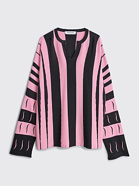 Kiko Kostadinov Hydra Striped Jumper Black / Pink