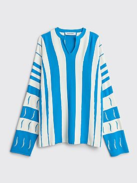 Kiko Kostadinov Hydra Striped Jumper Blue / White